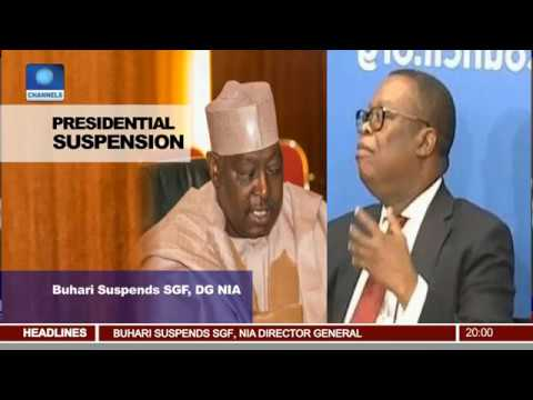 Presidential Suspension: Buhari Fires SFG, DG NIA (Report)