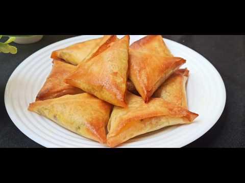 triangles-feuilletés-aux-poulet-et-fromage-cuits-au-four--recette-briouates