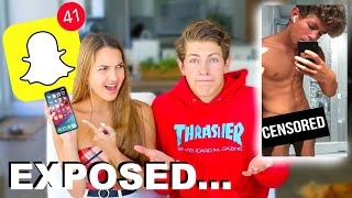 My Crush Goes Through My Phone! (bad idea)