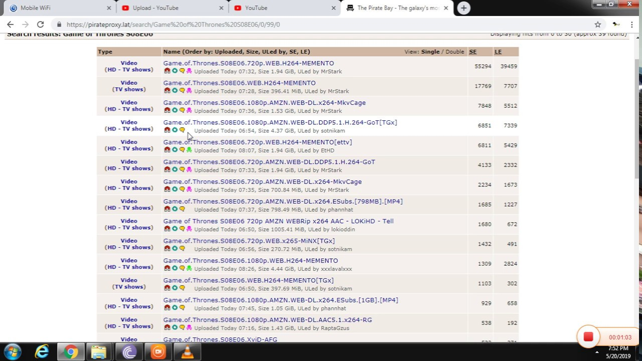 Download Game of throne season 8 episode 6(Last) torrent download