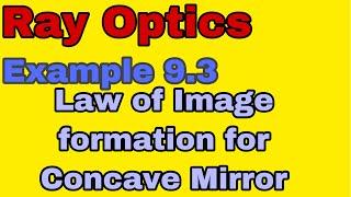Ray Optics Example 9.3