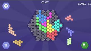 HEX BLOCKS PUZZLE - ADVANCE TO BIG BOARD LEVEL 9-14