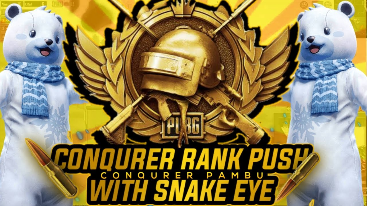 Pubg Mobile live| S17 Conqueror Rank Push With Snake Eye| Hand Cam Live| Road To 50K