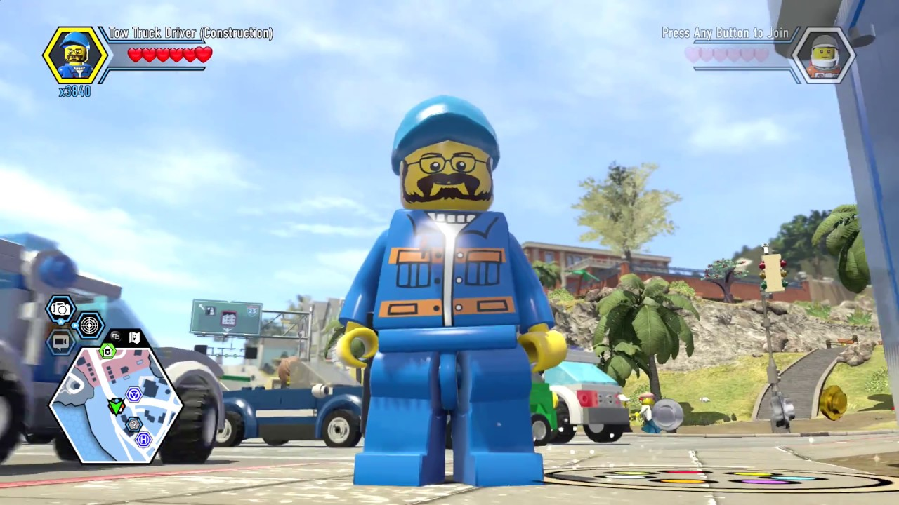 LEGO City Undercover Remastered Tow Truck Driver Unlock Location And Free Roam Gameplay