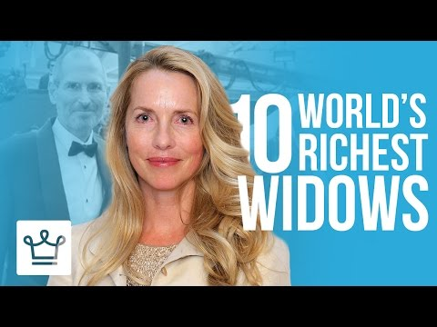 Top 10 Richest Widows In The World - YouTube