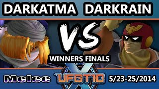 UFGTX - Darkrain (Captain Falcon) Vs. Darkatma (Sheik) SSBM Winners Finals - Melee