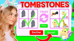 TRADING *TOMBSTONES* Got Me THIS In Adopt Me! (Roblox)