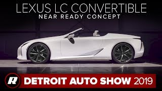 Lexus LC Convertible Concept: Will they build it?   Detroit 2019