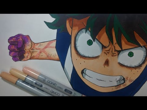 Drawing Izuku Midoriya || Boku no Hero Academia