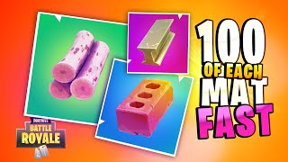 How to get 100 of each MATERIAL under 30 seconds (Fortnite Prestige Challenge Season 10)