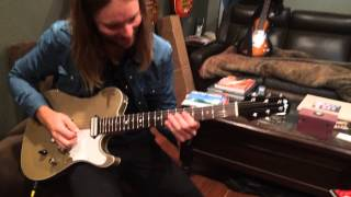 James Valentine of Maroon 5 plays his Asher T Deluxe for the first time, 2015