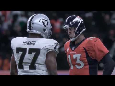 Madden NFL 18 Early Capture Gameplay | Raiders vs Broncos | Snow Game