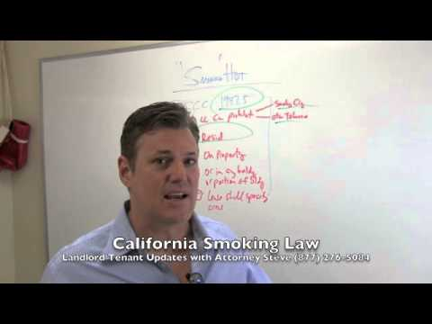 California landlord tenant new smoking law Civil Code 1947 5