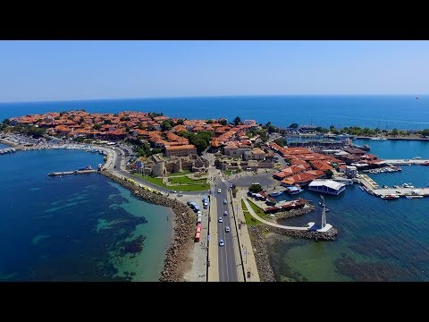 Nesebar (Несебър), Bulgaria - Drone footage over The Old Town