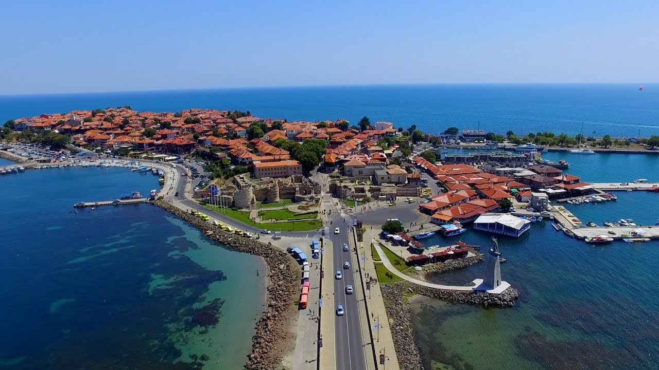 Nesebar (Несебър), Bulgaria - Drone footage over The Old Town - YouTube
