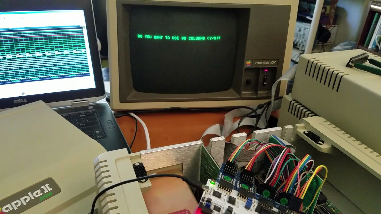 MCL65 6502 FPGA core running VisiCalc on Apple II+ - YouTube