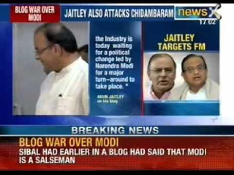 NewsX: Blog war between Arun Jaitley and Chidambaram turn murkier over Narendar Modi