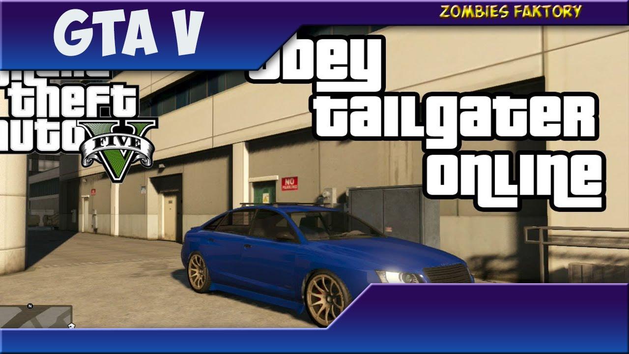 gta 5 online trouver la obey tailgater de micha l la voiture la plus rare du jeu youtube. Black Bedroom Furniture Sets. Home Design Ideas