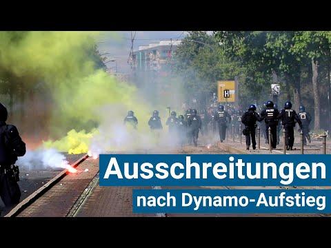 Ausschreitungen in Dresden bei Dynamo-Aufstieg am 16.05.2021