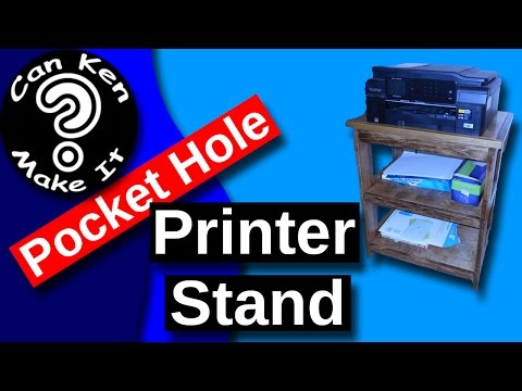 Make a Stand for Your Printer and Supplies using Pocket Hole Joinery