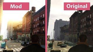 GTA 4 Maximum Graphics Mod Overhaul for 1 0 7 0 vs  Original on PC Graphics Comparison WQHD
