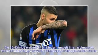 Inter Mailand: Auto der Ehefrau von Mauro Icardi von Stein getroffen
