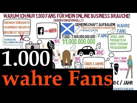 Kevin Kelly : 1000 wahre Fans für ein erfolgreiches Online Business - deutsch