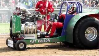 Tractor Pulling Eext 2011 Original Rat Poison crash engine finale 950 kg modified