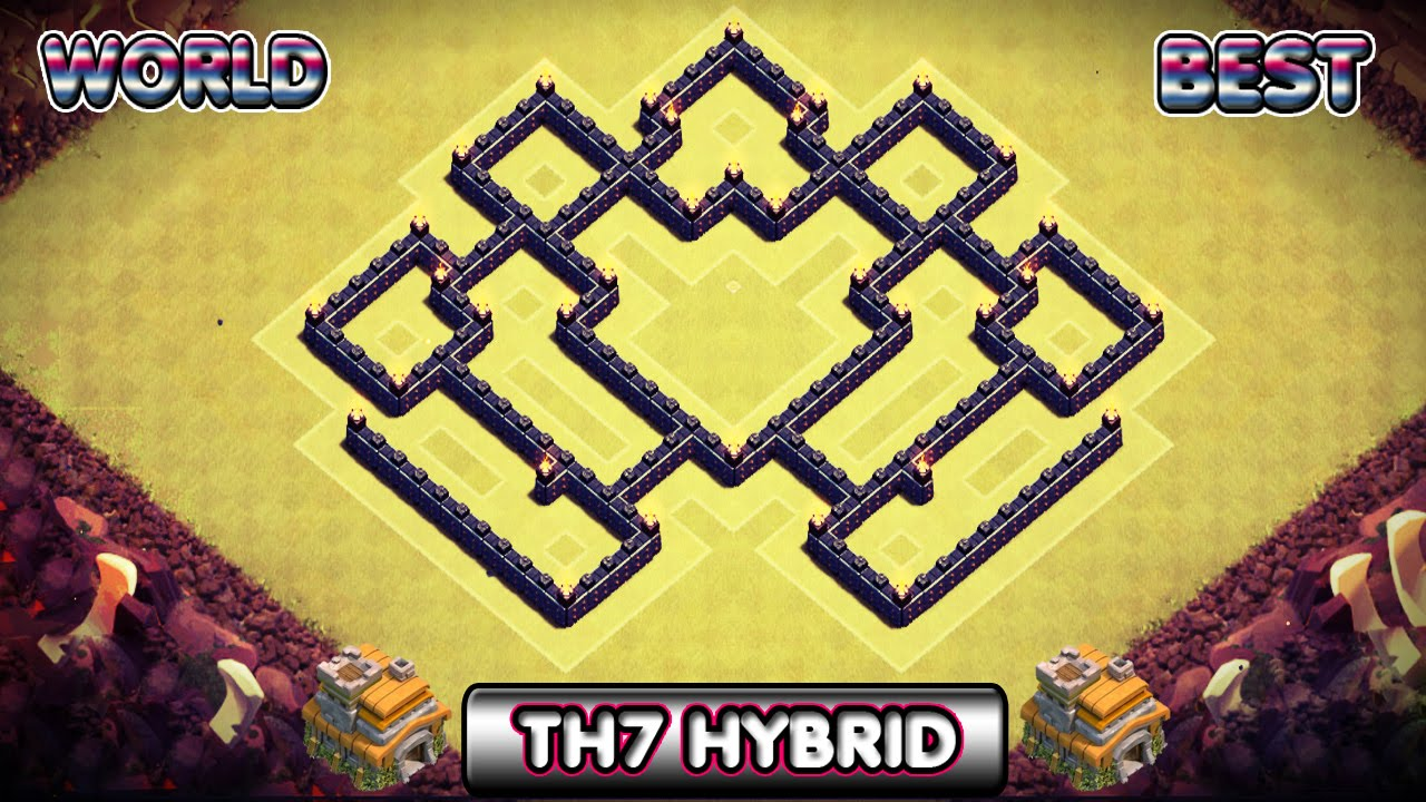 Clash of Clans | Best TH7 Hybrid Base | For Saving Both ...