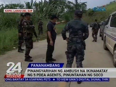 Pinangyarihan ng ambush na ikinamatay ng 5 PDEA agents, pinuntahan ng SOCO