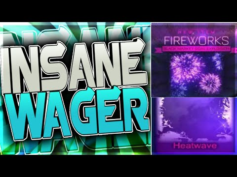 😱 CRAZY WAGER!! FIREWORKS AND HEATWAVE WAGER ON ROCKET LEAGUE!! YOU WONT BELIEVE WHAT HAPPENS!!