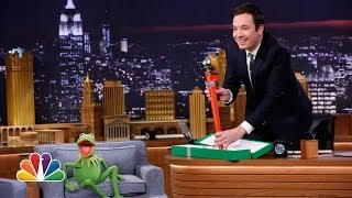 Kermit the Frog Has a Gift for Jimmy