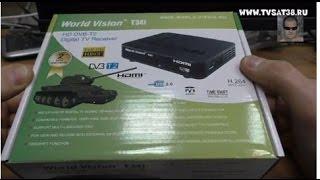 Огляд ресивера DVB T2 World Vision T34i. Підключення, настройка.