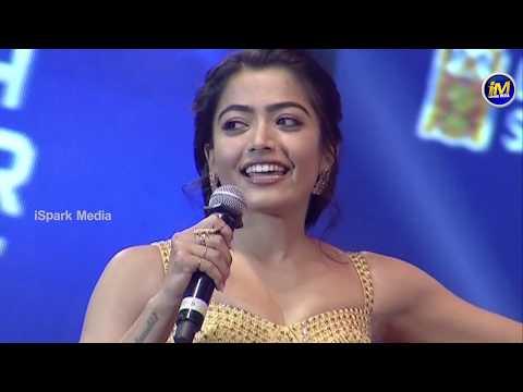 Rashmika Mandanna Speech at Sarileru Neekevvaru Mega Super Event | Mahesh Babu | Ispark Media