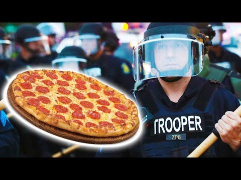 Petty Police Intimidate Pizzeria Owner