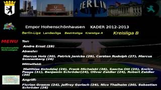 Empor Hohenschönhausen Kader 2012-13 Kreisliga B 5.Abteilung