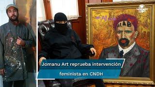 Después de recibir críticas por su postura, el pintor José Manuel Nuñez A. dijo que no está en contra de la expresión de las manifestantes