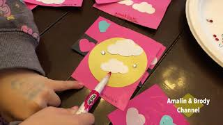 DIY Valentines Day cards With Amalin from ABC ToyReviews [4K]