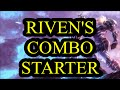 Riven's E mechanics, animation cancel every ability
