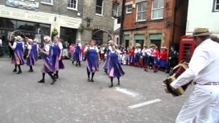 Hexhamshire Lasses Morris Dancers Visit Newark-On-Trent