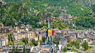 Andorra Flag Map