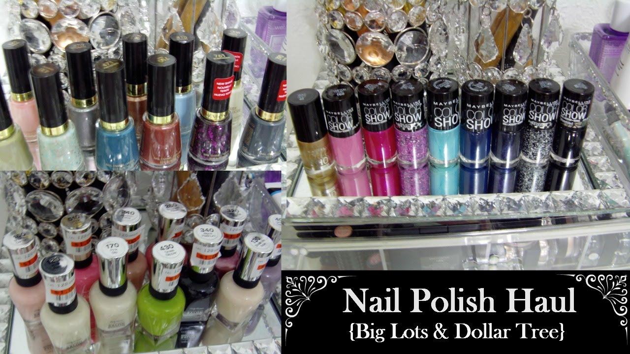 $1 Nail Polish Haul {Big Lots & Dollar Tree} - YouTube