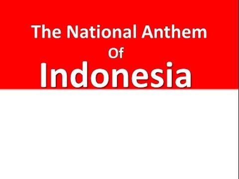 The National Anthem of Indonesia Raya instrumental with lyrics