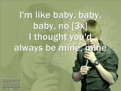 Justin Bieber - Baby + Lyrics on Screen [Acoustic Version]