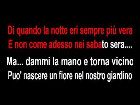 Rino Gaetano A Mano A Mano Karaoke Youtube