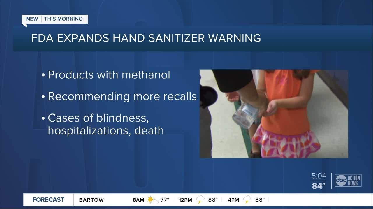 Update: FDA expands 'toxic' hand sanitizers recall