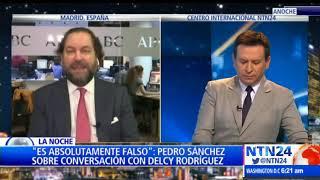 Delcy Rodríguez habló con Pedro Sánchez para que no recibiera a Juan Guaidó en su gira: Diario ABC