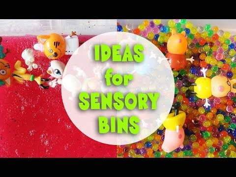 Сенсорные коробки для детей. Sensory Bins Ideas.