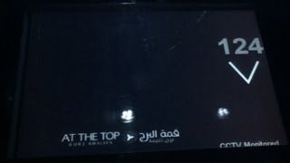 Burj Khalifa - 124 floor elevator journey in under 1 minute