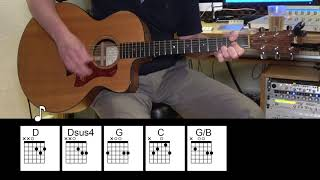 Crazy Little Thing Called Love - Acoustic Guitar - Queen - Original Vocal Track - Chords